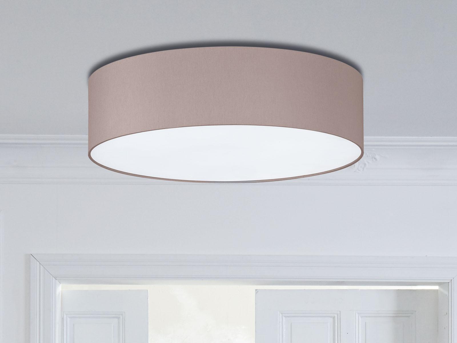 Deckenlampe Rund Ø45cm Schirm cappuccino E14 Wohnzimmerlampe Dielen Beleuchtung