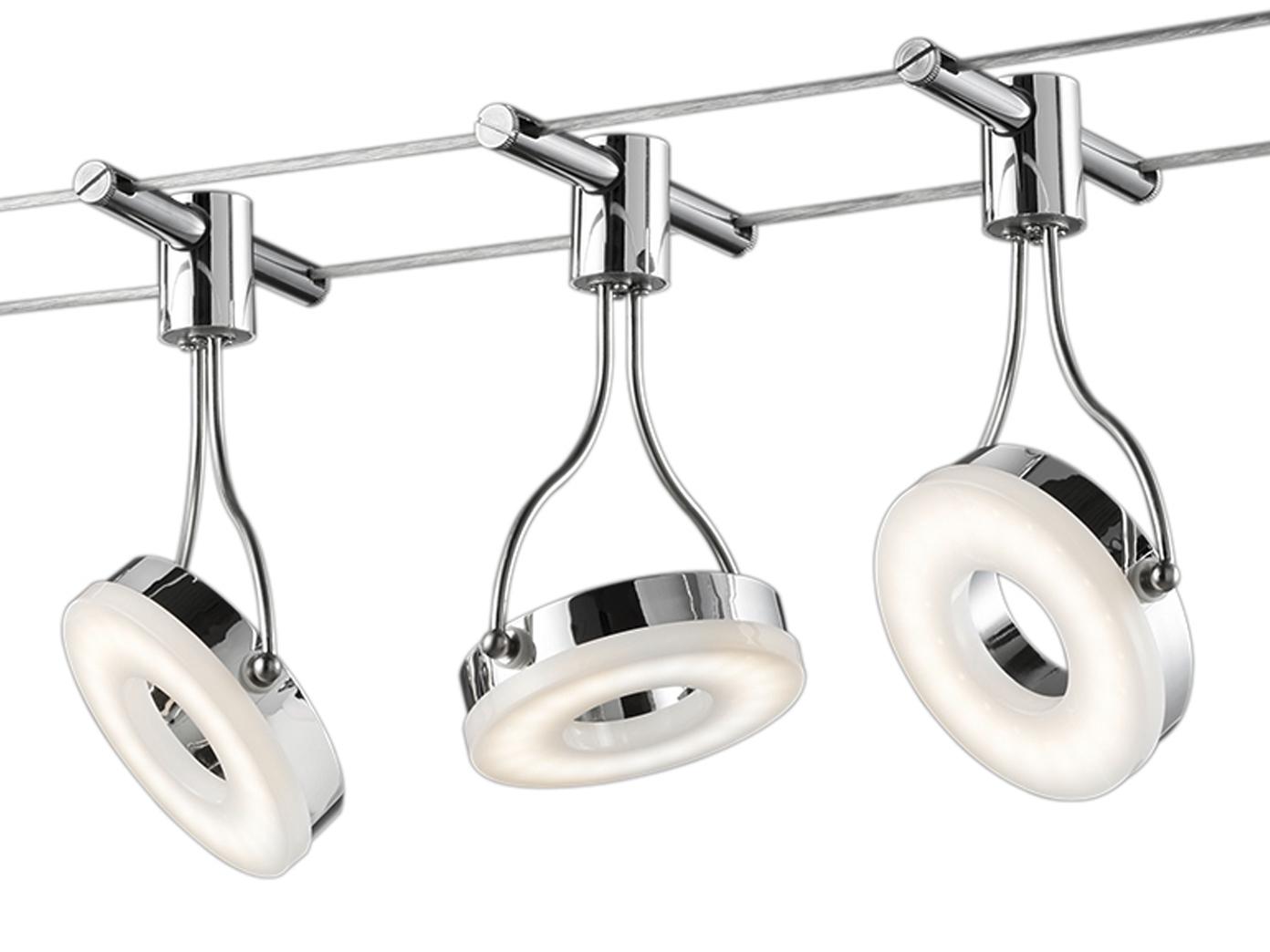 5 Meter LED Seilsystem Schienensystem Mit Spots