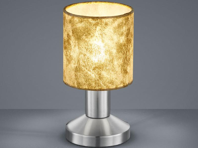 Trio Tischlampe GARDA mit LED Tischleuchte Nachttischlampe Schirm Textil weiß