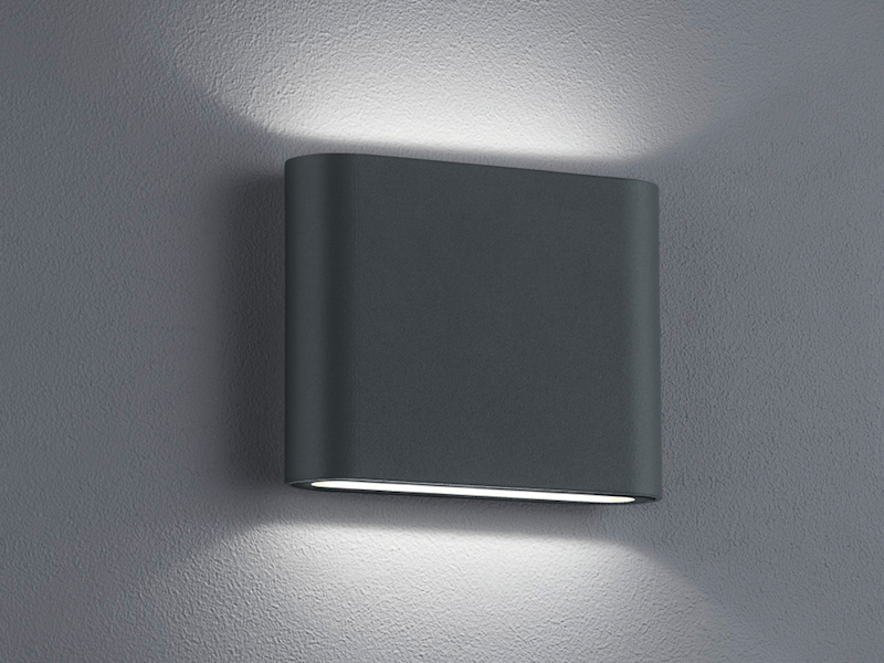 LED Außenwandleuchte THAMES Up and Down Light in Anthrazit 11,5cm breit