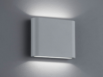 LED Außenwandleuchte THAMES Up and Down Light in Titan 11,5cm breit