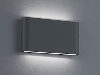LED Außenwandleuchte THAMES Up and Down Light in Anthrazit 17,5cm breit