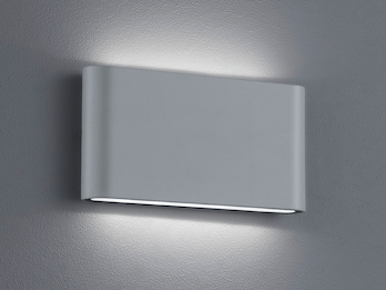 LED Außenwandleuchte THAMES Up and Down Light in Titan 17,5cm breit