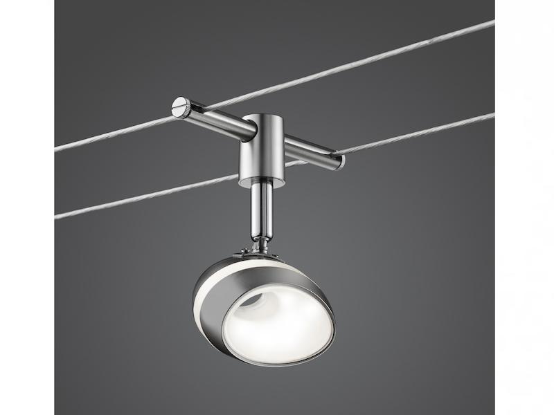 Deckenlampe Seilsystem Bürobeleuchtung LED Schienensystem BASIC mit 5 Spots