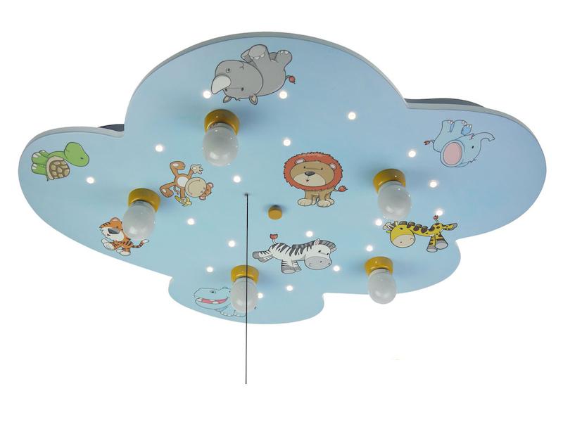Kinder Wolkenlampe Wilde Tiere Zugschalter Led Sternenhimmel