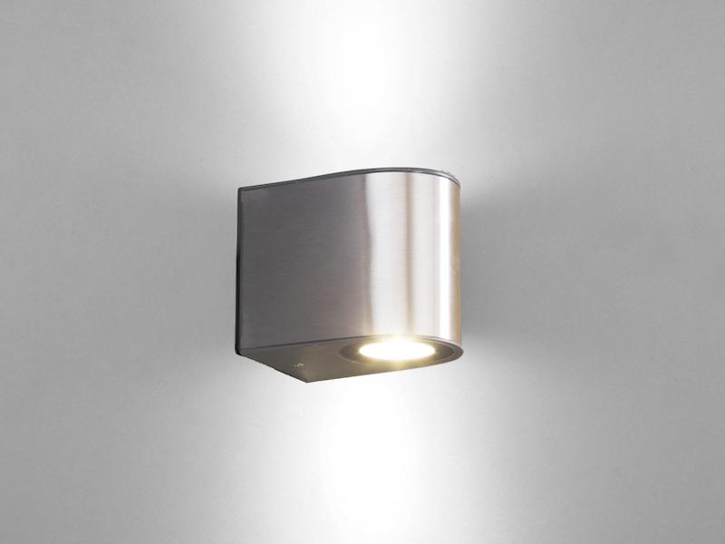 Hochwertige eckige LED Außenwandleuchten ALU Anthrazit Up and Down Lampen B.30cm