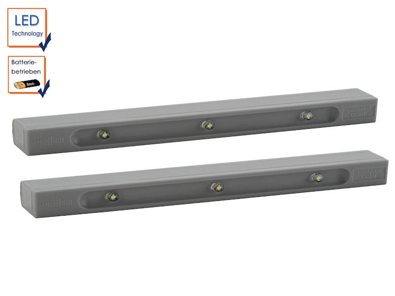 LED Lichtleiste Vibrationssensor Batteriebetrieb Unterbauleuchte Schubladen