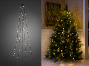 Hängende  LED Christbaum Lichterkette für Innen 200 LED´s  -