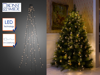 Hängende  LED Christbaum Lichterkette für Innen 250 LED´s  -