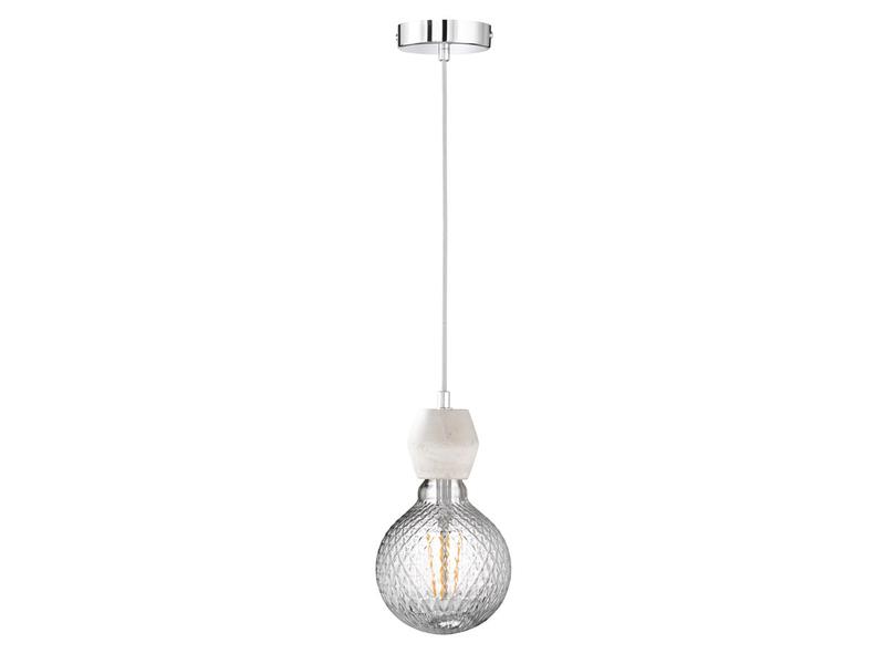 Pendelleuchte Vintage Schnurpendel Textil weiß Hängelampe E27 Filament LED