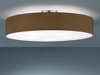 Moderne Lampen 65 : Deckenleuchte mit stoff lampenschirm in schwarz meine wunschleuchte.de
