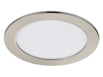 Runder LED Einbaustrahler in Nickel matt Ø 22,5cm dimmbar 18W - Deckenspot Panel