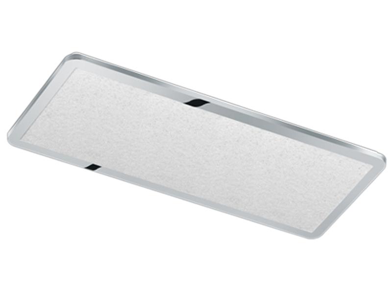 Runde LED Deckenleuchte in chromfarben mit Switch Dimmer IP44 Badleuchte Decke