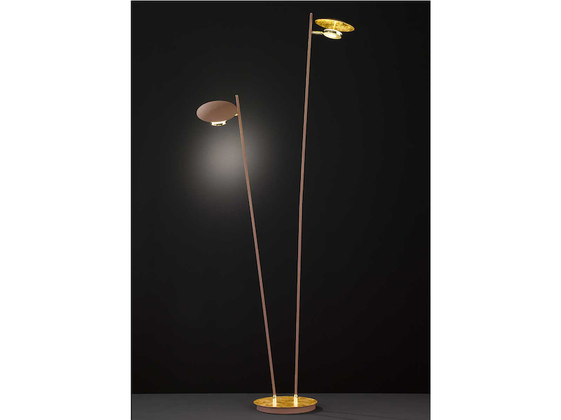 Moderne LED Standlampe 3 Spots schwenkbar mit Dimmer Leselampen Wohnraumleuchte
