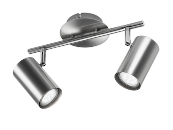 LED Wandstrahler FAINA 2 flammig in Nickel matt - Spots dreh- und schwenkbar