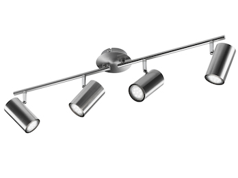 LED Deckenstrahler FAINA 4 flammig in Nickel matt - Spot dreh-und schwenkbar