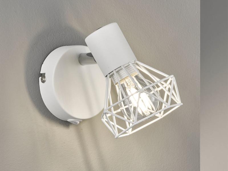 Honsel LED Wandlampe mit Schalter Wandspot Glasschirm weiß Leselampe Flurlampe