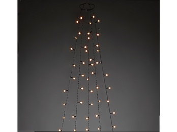 Hängende LED Christbaum Lichterkette 200 bernsteinfarbene LED´s  -