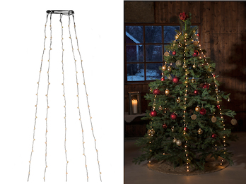 Hängende LED Christbaum Lichterkette 180 bernsteinfarbene LED´s  -