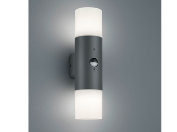 Außenwandlampe HOOSIC mit Bewegungsmelder Up and Down Light Anthrazit IP44