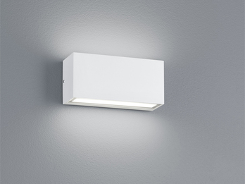 LED Wandleuchte Up- & Downlight TRENT aus matt weißem Aluminium