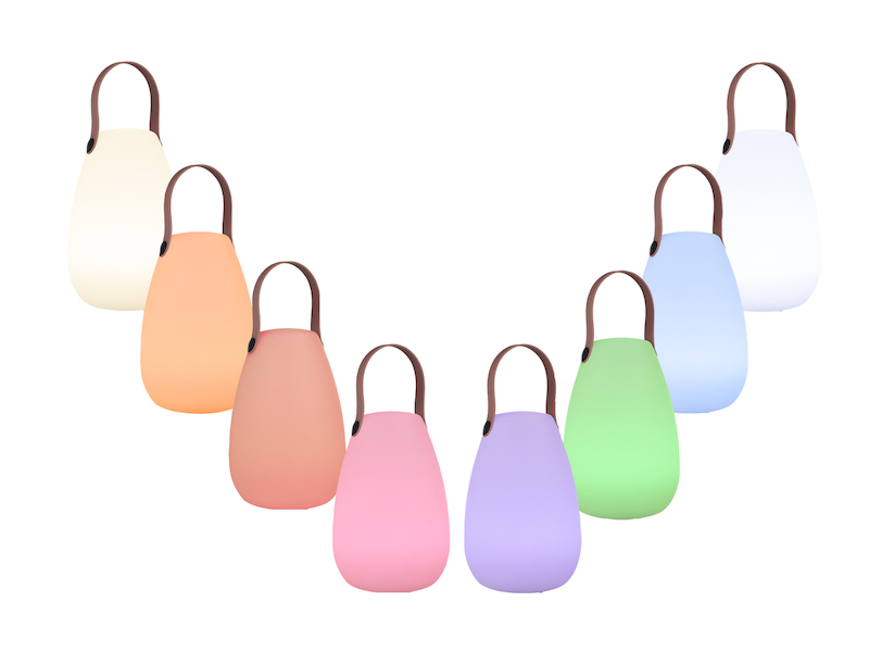 LED Tischleuchte für Außen /& Innen mit Farbwechsel /& Akku Batterie Dekoleuchten