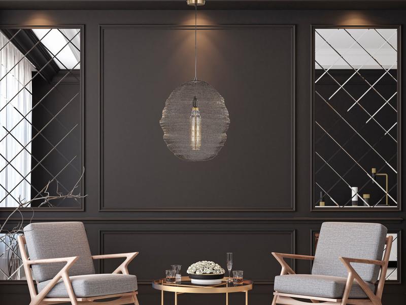 Kugel Hängeleuchte 40cm Design Kupfer antik Pendelleuchte Esstischlampe modern