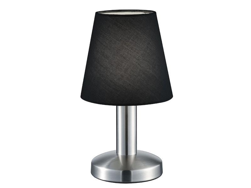 Tischleuchte Nachttischleuchte Touch Stoffschirm silber Leuchte Flur Wohnraum