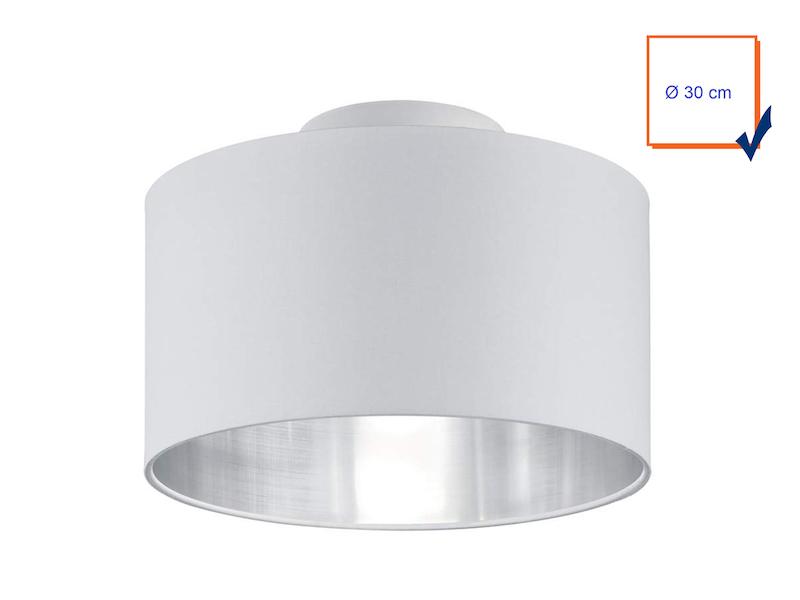 Coole Deckenlampe In Braun Mit Rundem Lampenschirm Aus Stoff O 65cm E27 Deckenleuchten Buro Schreibwaren Dentalmed Rs