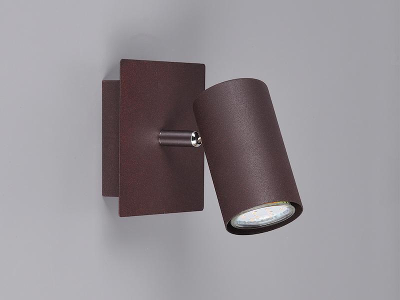 Dreh /& schwenkbare Spotleuchten Serie aus rostfarbigem Metall für Wand /& Decke