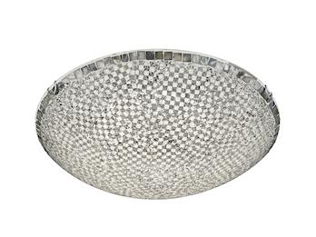 Dimmbare Hängeleuchte Ø 30cm Metall in Weiß Switch Dimmer Wohnzimmerlampen