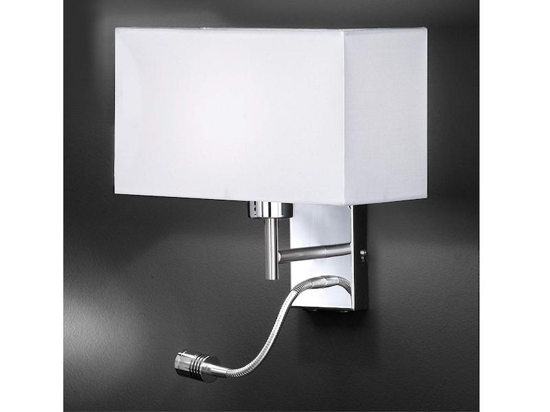 LED Wandleuchte Weiß Zeitlos mit Schalter flexibel Schlafzimmer Bett Leseleuchte