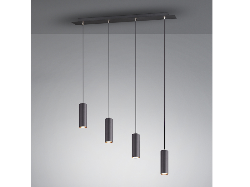 Deckenlampe Deckenleuchte Schirm Stahl Design Wenge Modern A 31328