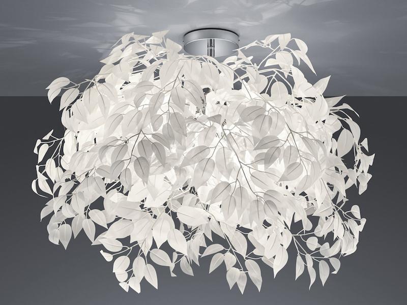 lampe mit federn weiß