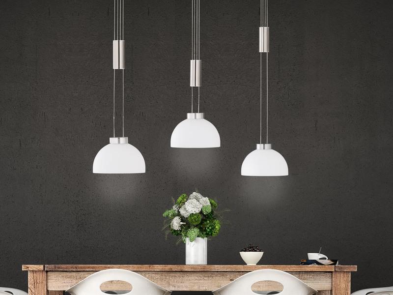 Pendelleuchte E14 LED silber Zeitlos Warmweiß dimmbar