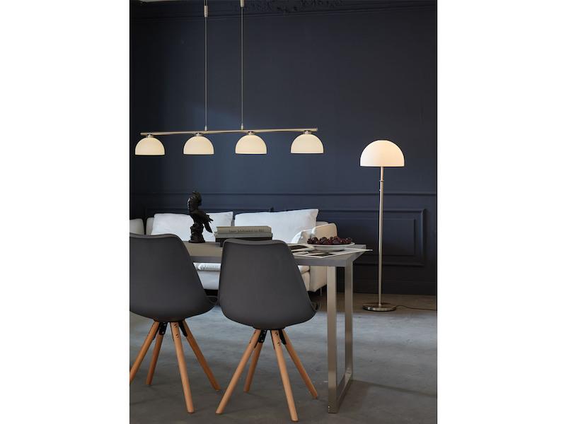höhenverstellbar Lampenschirme silber Esstisch 4flammige Hängelampe mit E14 LED