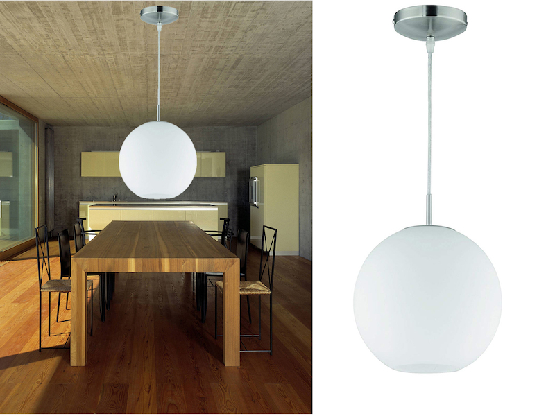 Glas Deckenleuchte Deckenschale weiß 25cm Lampe rund Deckenbeleuchtung Wohnraum