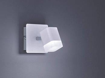 Wand Spot Strahler mit Schnur Schalter Glas Schirm weiß 1-flammig E14 schwenkbar