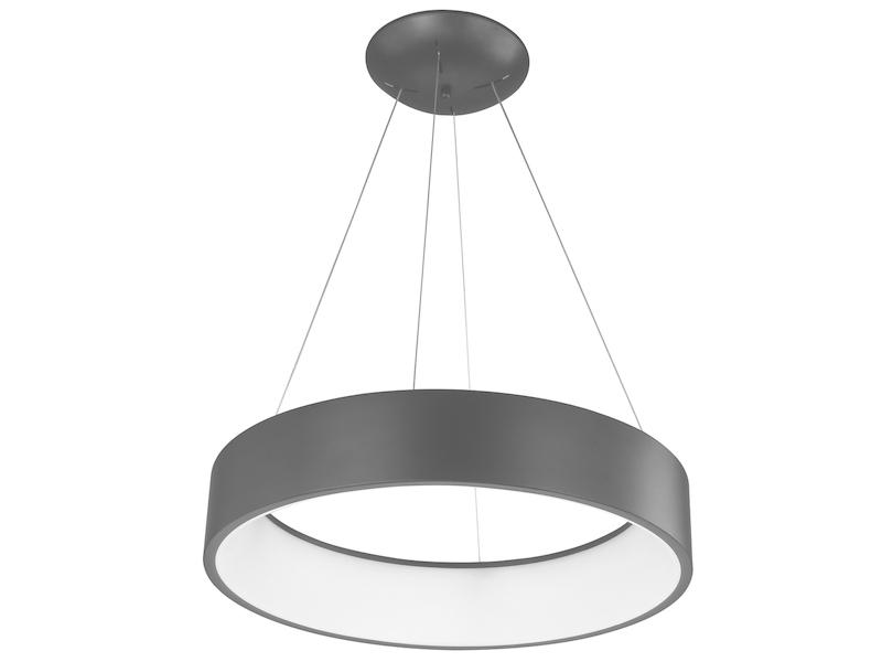 Pendelleuchte E14 grau Kunststoff Acryl Modern