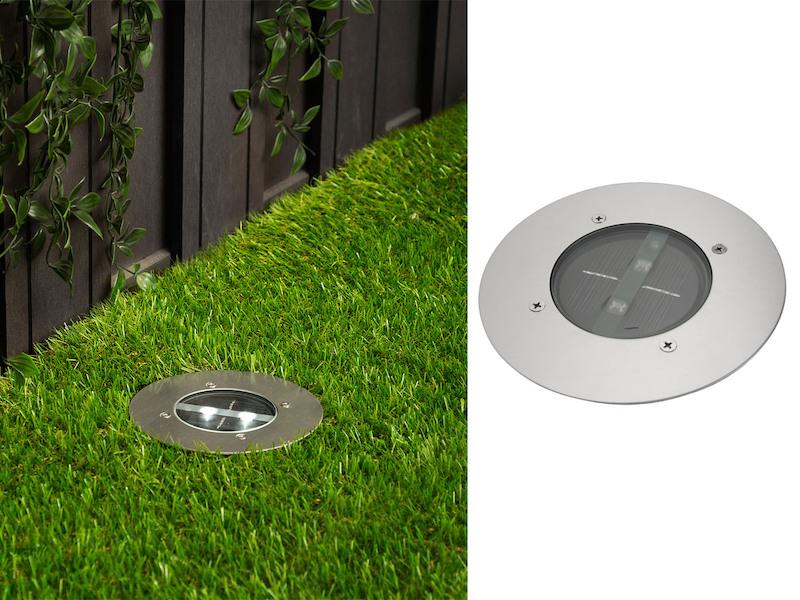 IP67 4er Set Ranex Solar LED-Bodeneinbaustrahler 4-eckig Edelstahl//Glas