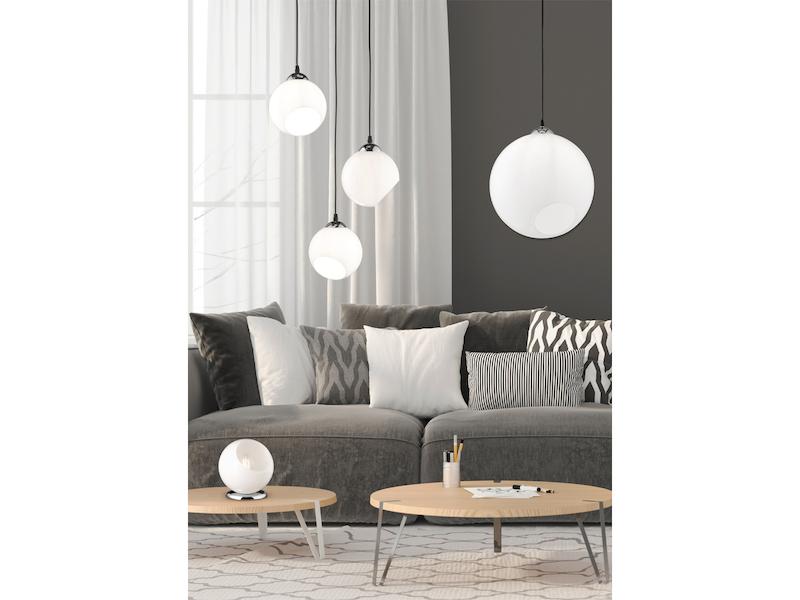 LED Pendellampen mit runder Glaskugel Hängeleuchten für Wohnzimmertisch 1flammig