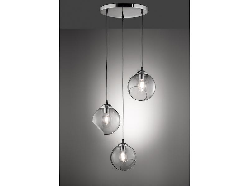 Esstischlampe mit dimmbarem Leuchtmittel LED Hängeleuchte KUGEL Glas Ø20cm weiß