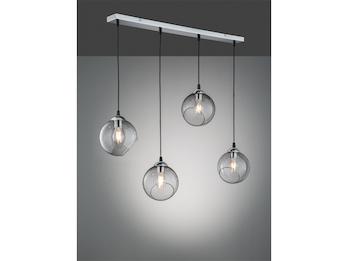Pendelleuchte Altmessing// Schirme Glas B 3-fl 80cm Wohnzimmer Esstischlampen
