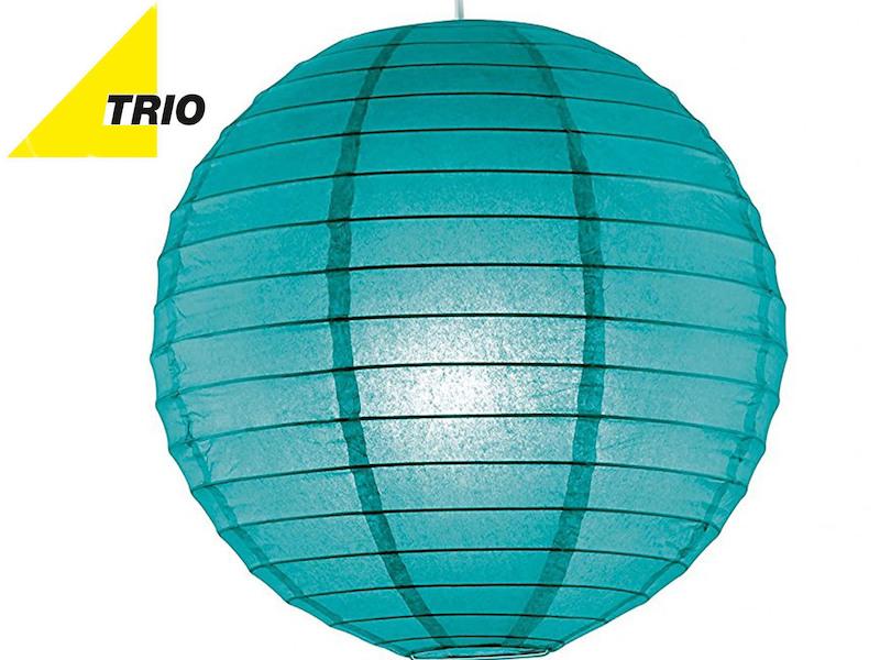 Trio LED Pendelleuchte Lampion Papierschirm weiß Ø 40cm Hängelampe Japan-Kugel