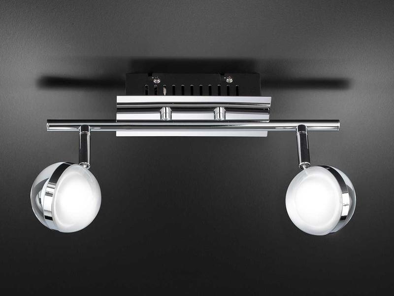 Wofi LED Tischleuchte Fulton Chrom mit Schalter Acrylglas Retrolook Lampe 6 Watt