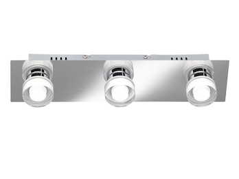 LED Deckenleuchte LORIENT fürs Bad, IP23, 36 cm lang, Nickel / Chrom