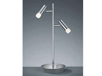 Trio Stehleuchte Zidane LED Fußdimmer Chrom altmessing Stehlampe