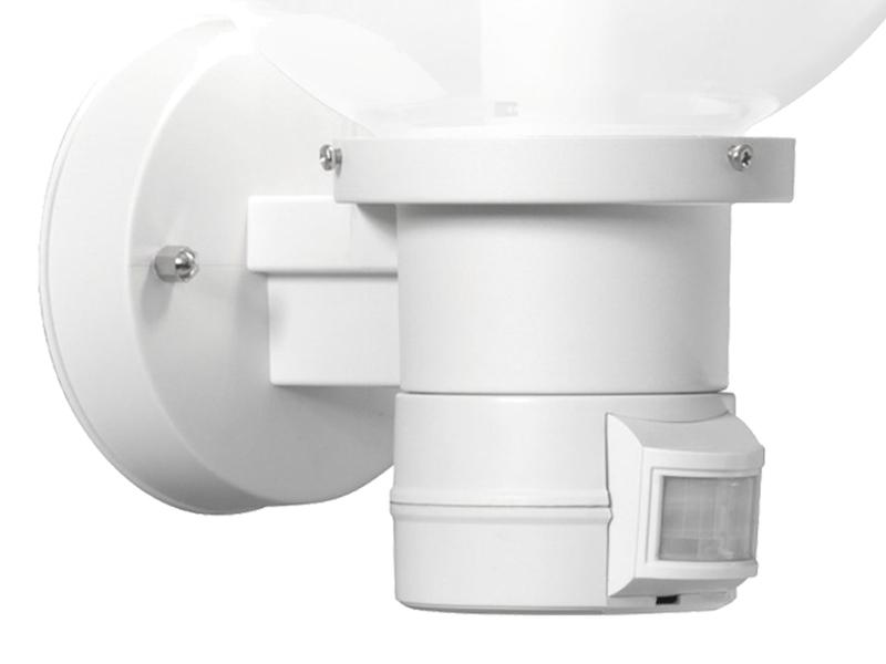 Wandleuchte Außenwandleuchte NEMI mit Dämmerungssensor IP44 weiß