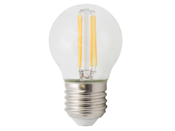 FILAMENT-LED Globe E27, 4 Watt, 400 Lumen, 2700 Kelvin, warmweiß