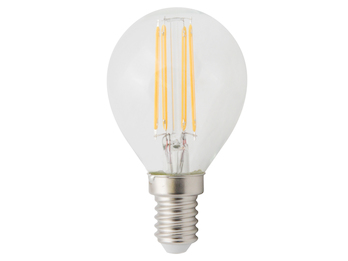 FILAMENT-LED Globe E14, 4 Watt, 400 Lumen, 2700 Kelvin, warmweiß